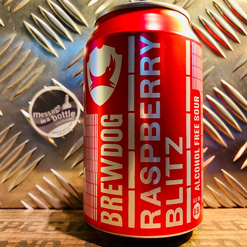 BrewDog 🇬🇧 raspberry blitz : alcohol free* sour beer