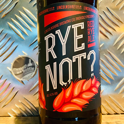 Lincolnshire Brewing Co - rye not? 🌾  red rye ale