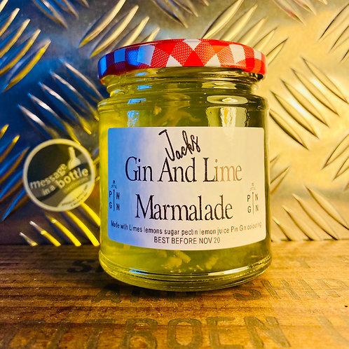 Jacks - gin & lime marmalade : made with pin gin