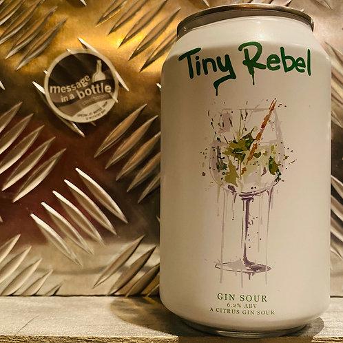 Tiny Rebel 🇬🇧 GIN SOUR : A Citrus Gin Sour + Juniper, Lemon, Lime, Pink Pepper