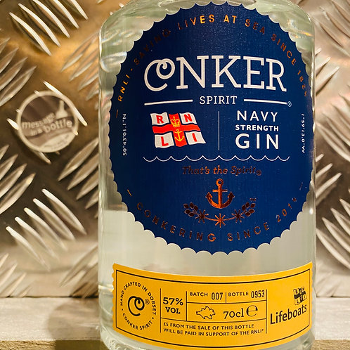 CONKER SPIRIT 🇬🇧 NAVY STRENGTH GIN : RNLI / Lifeboats Charity Bottle