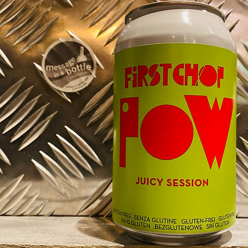 First Chop 🇬🇧 POW 💥 Juicy Session Pale Ale / Gluten Free