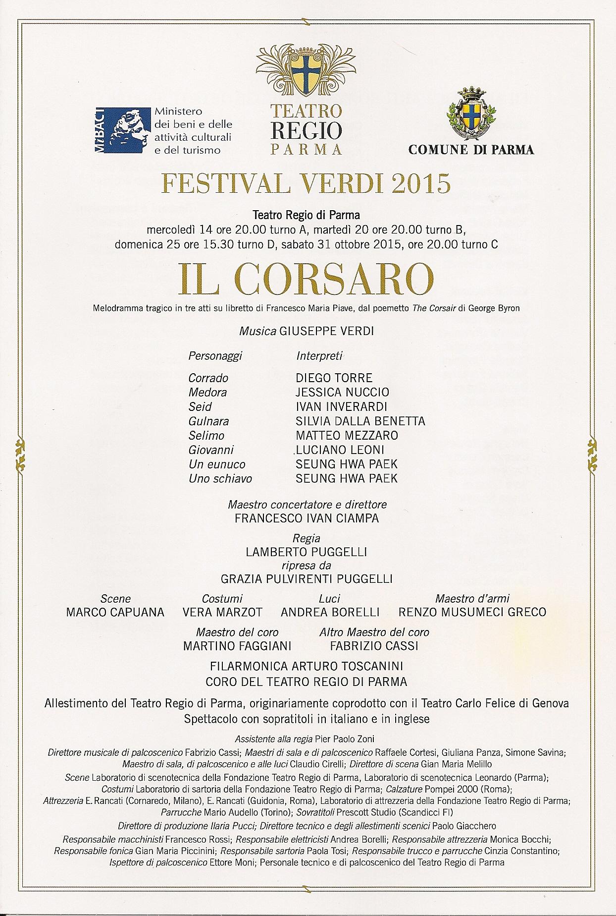 Il Corsaro 14-10-2015 Parma