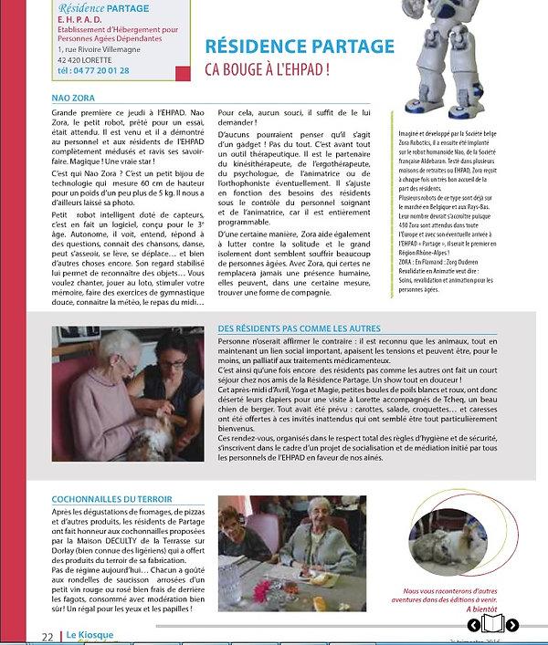 Teea&Co, Médiaton Animale Loire, EHPAD Partage
