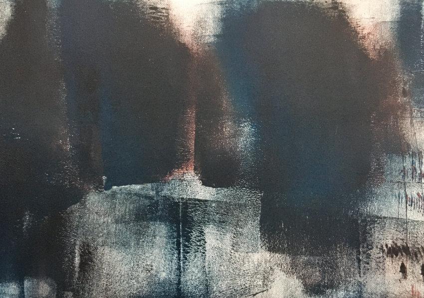 """Corrosion"",Acrylic-painting,2019,300×21"