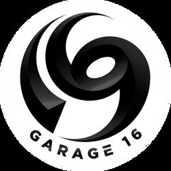 Garage 16 Logo with White Circle
