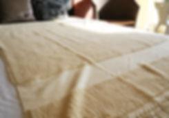 希少な手織りのパイル生地‐ブルダン織りセレブタオルケット