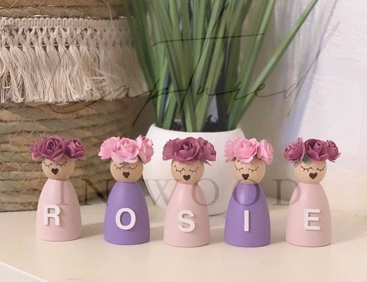 PERSONALISED WOODEN DOLLS