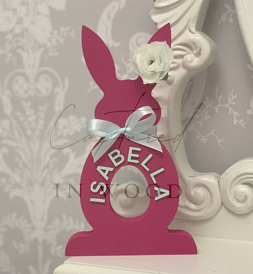 PERSONALISED BUNNY CREME EGG HOLDER