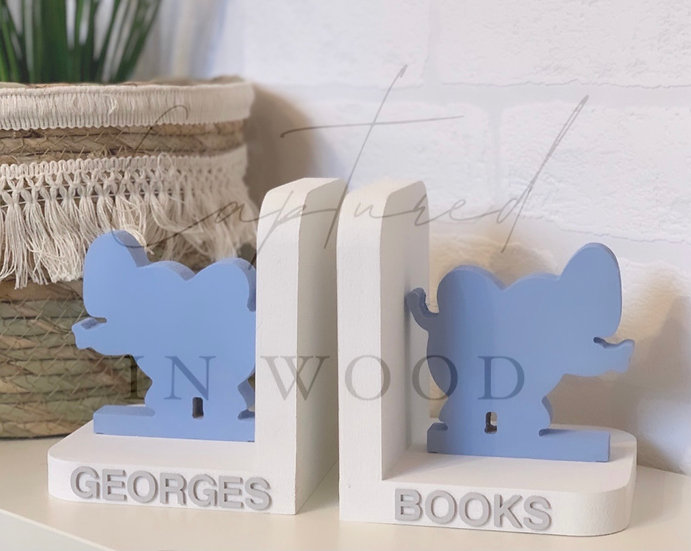 PERSONALISED WOODEN BOOK ENDS