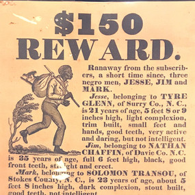 Fugitive Slave Advertisement for Jesse, Jim, and Mark