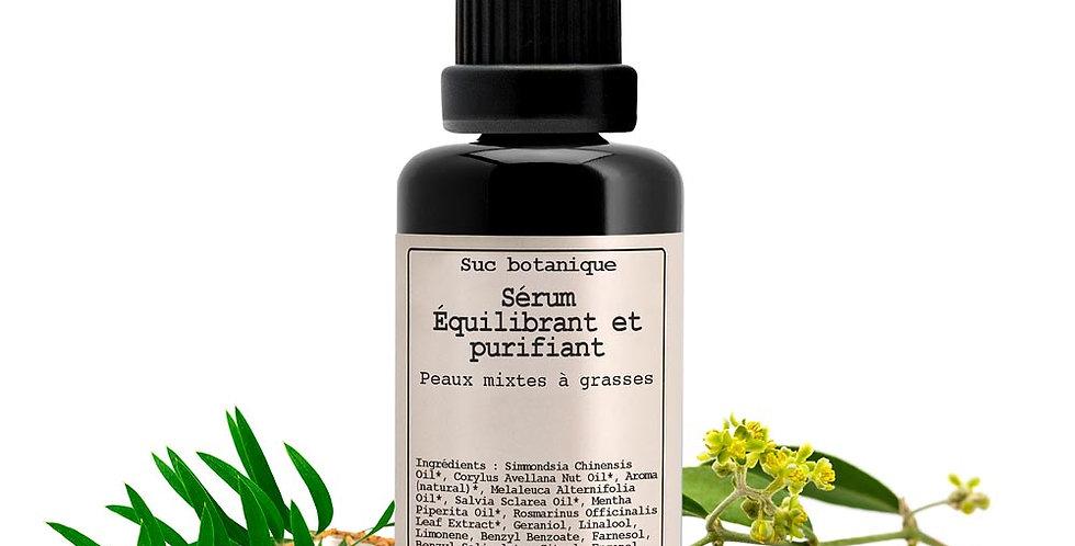 Sérum Equilibrante y purificante, pieles mixtas a grasas, Hévéa, 30 ml