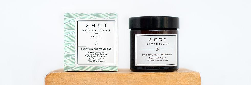 Crema de noche equilibrante & purificante,  Shui Botanicals, 60 ml