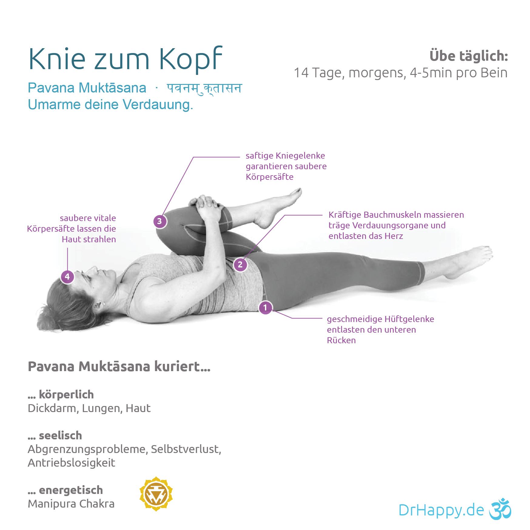 Yogauebung-Kopfkniepose-Pavana-Muktasana