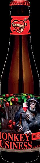 Monkey Business 'Berry' flesje 33cl klei