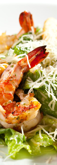 Cesar Salad with Prawns
