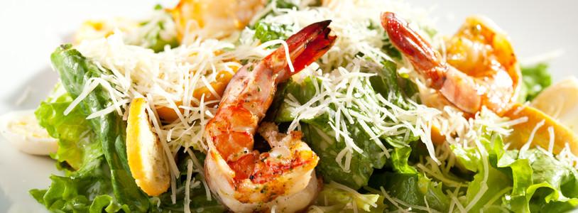 Cesar Salad with Prawns
