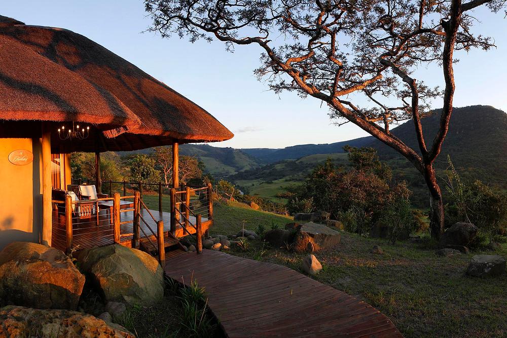 Karkloof Safari Spa - Villa at sunrise