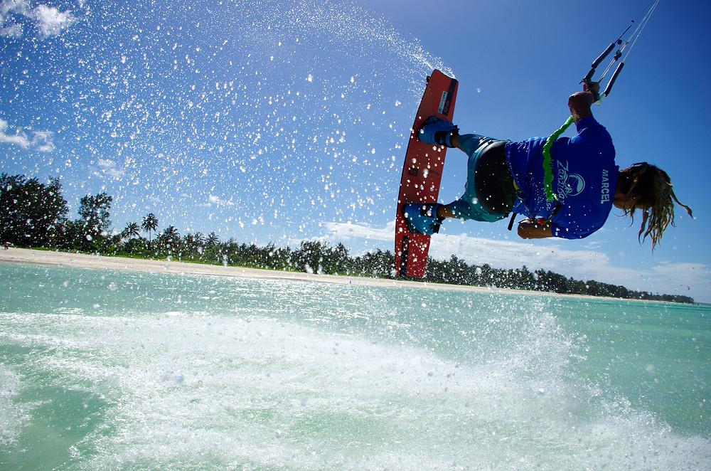 Kitesurfing at Zanzibar White Sand Luxury Villas & Spa