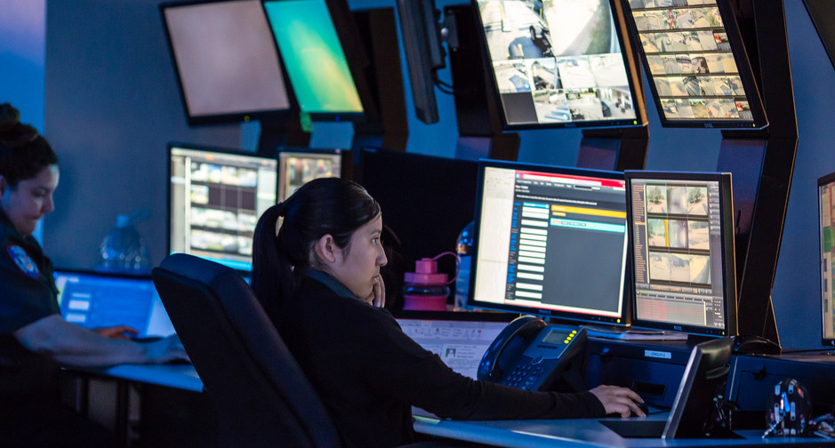 Inside our 24/7 control center at Automated Security Integrated Solutions