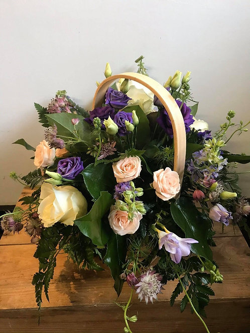 Florist Choice -Basket Arrangement with fresh cut flowers