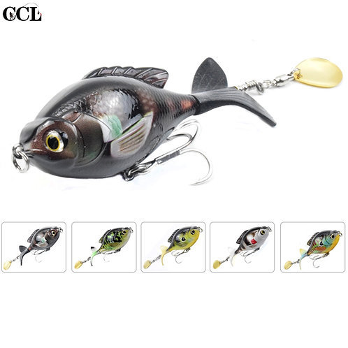 Rotating Tail Popper Lure Topwater