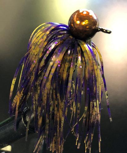 Whiskey Purple Weedless Football Jig