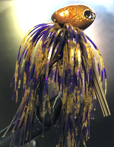 Whiskey Purple Weedless Brush Jig