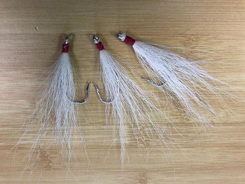 Bucktail Teaser - White / Hot Pink