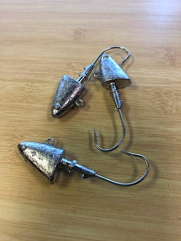 1/4 Ounce Shad Head Jigs - 1/0