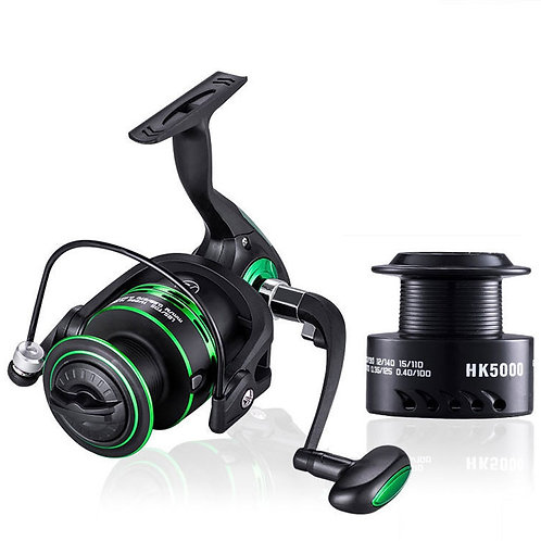 Metal Spool Spinning Reel  Free Spare Spool Left / Right Hand