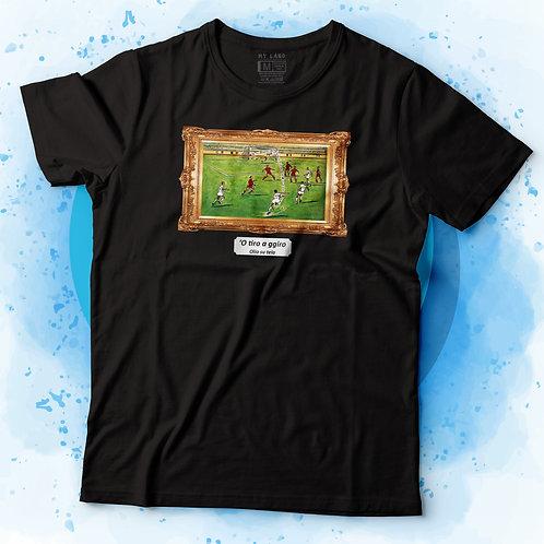 T-shirt 'O tiro a ggiro - olio su tela
