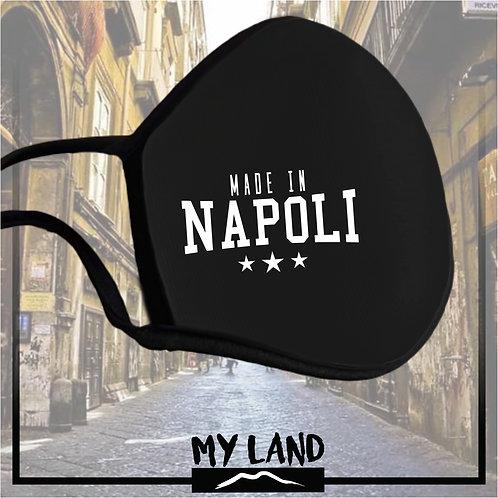 """4 Mask Total Black """"MADE IN NAPOLI"""""""