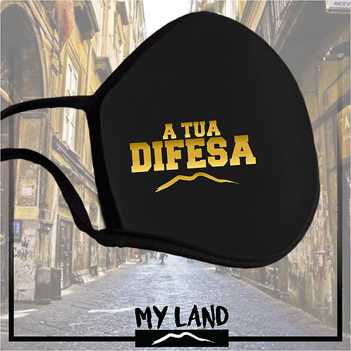 "4 Mask Total Black ""ATUA DIFESA"""