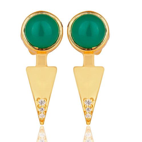 Mini Green Pointed Earrings