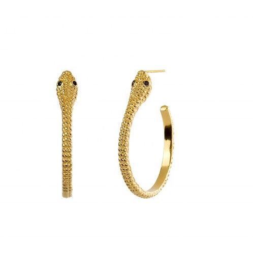 Snake Design Hoops