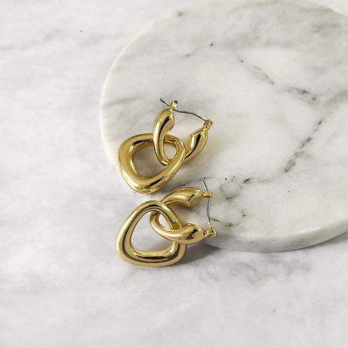 Double Triangle Hoop Earrings