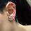 Thumbnail: Spikes Adjustable Cartilage Earrings