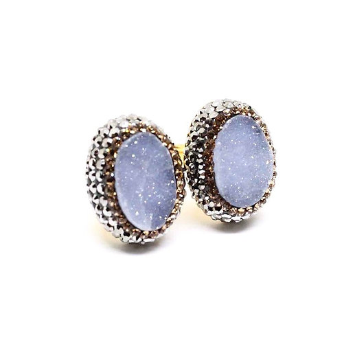 Double Chalcedony Ring