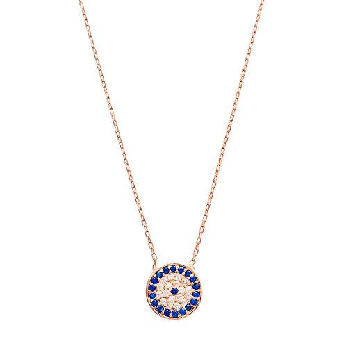 Sapphire Evil Eye Gold Pendant