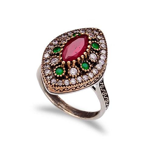 Emerald & Ruby Vintage Ring