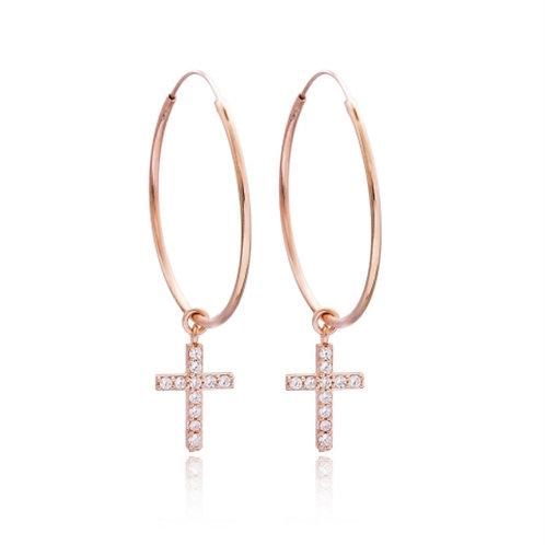 Confessions Cross Hoop Earrings