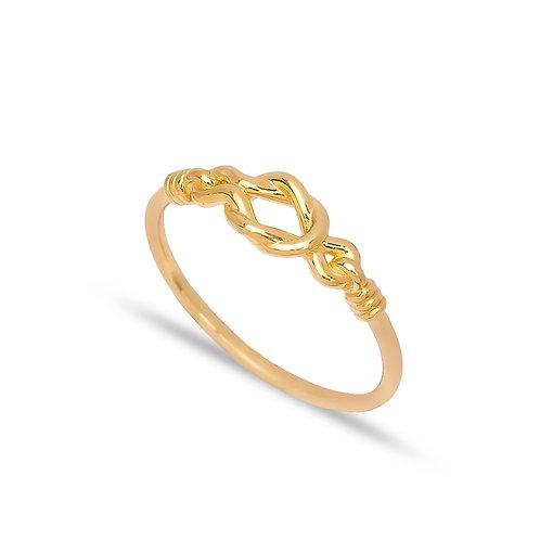 925 Silver Loop Design Plain Ring