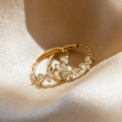Mini Zircon Gold Hoops
