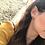 Thumbnail: Stud Triangle Rose Gold Earrings