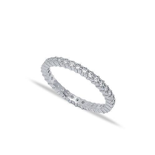 Minimalist Dainty Micro Pave Zircon Band Ring
