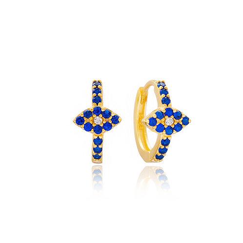 Blue Mini Hoops Earrings