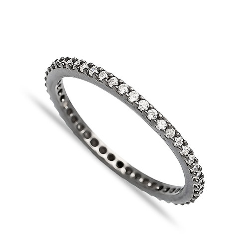 Pave Black Rhodium Ring