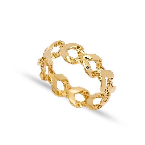 925 Silver Chain Shape Plain Ring