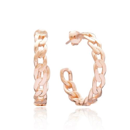 Chain Design Hoop Earrings